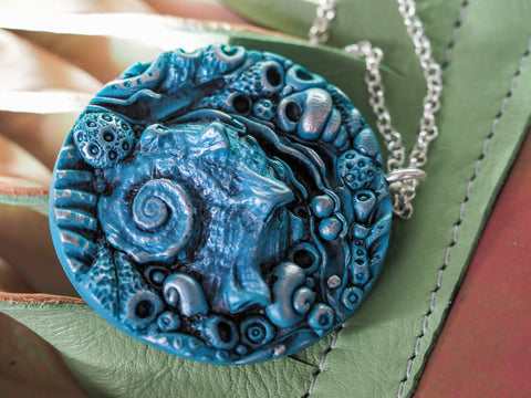 Blue Seashell Pendant