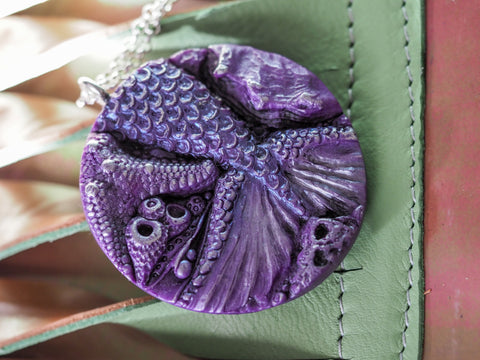 Purple Mermaid Pendant
