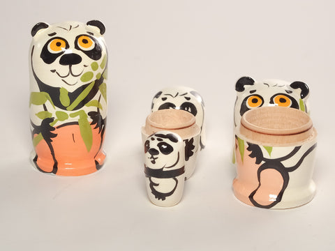 "Panda Nesting Doll - From 2 1/4"" to itty bitty!"