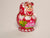 Nesting Doll in Red - Hand painted with 4 more inside!