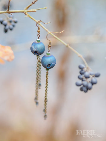 Drops of Jupiter - Druzy Agate Earrings