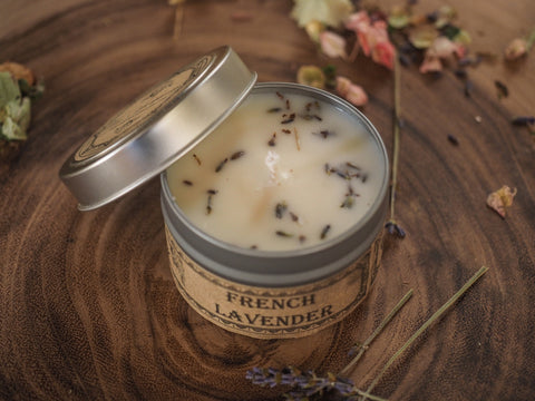 French Lavender Travel Tin Candle