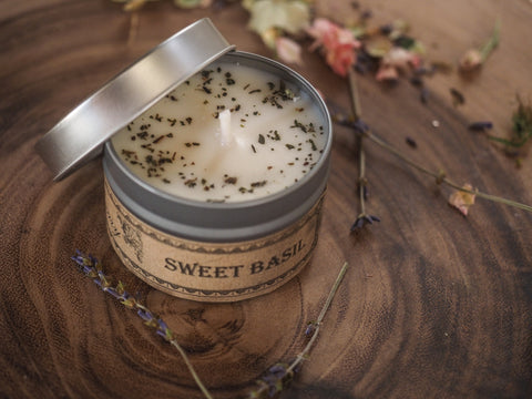 Sweet Basil Travel Tin Candle