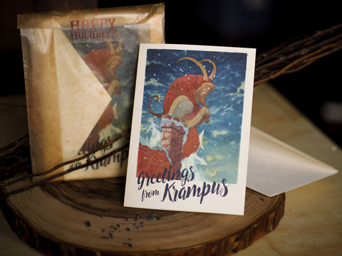Charles Vess Krampus Cards with Envelopes -- Set of 8