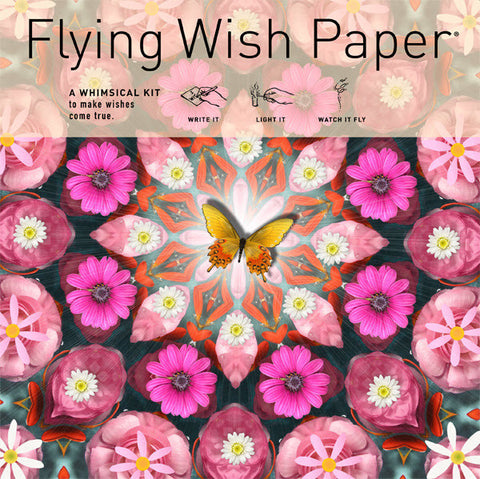 Pink Butterfly Flying Wish Paper, Large Kit