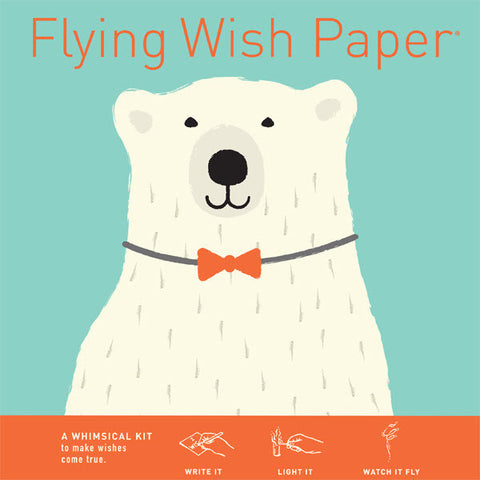 Polar Bear Formal Wear - Mini Flying Wish Paper Kit