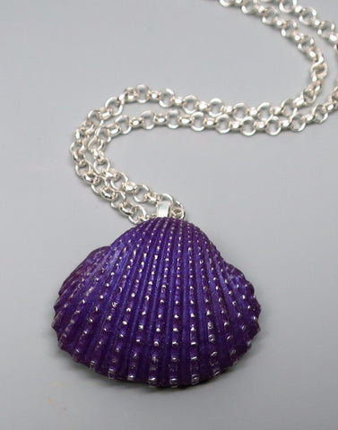 Purple Clam Shell Pendant