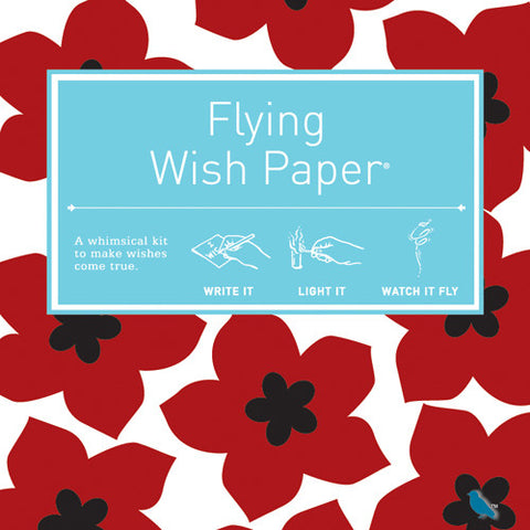 Flying Wish Paper Mini Wishing Kit, Ruby Red