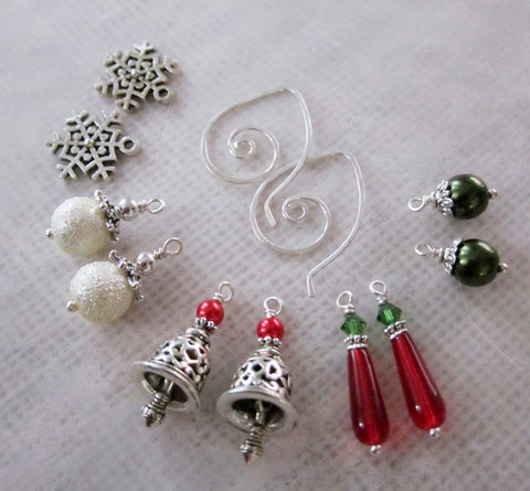 Seasons Greetings Mix and Match Earring Set