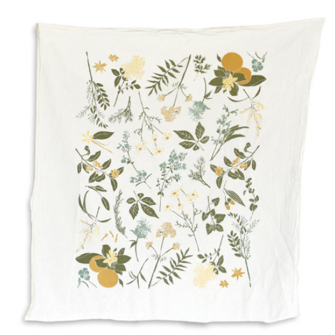 Herbal Tea Garden Flour Sack Towel