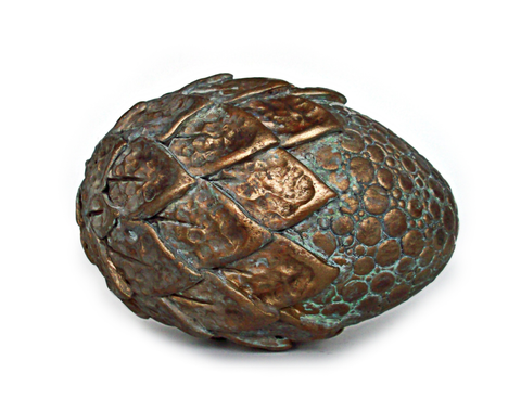 """Ancient Metals"" Brass Half Scale Dragon Egg"
