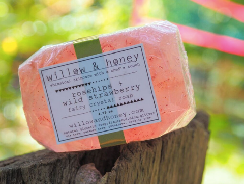 Rosehip and Wild Strawberry Fairy Crystal Soap