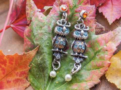 Sparkly Owl Post Earrings