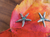 Starfish with Crystal Post Earrings