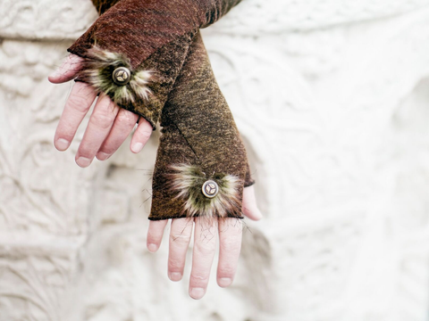Forest Nymph Fingerless Gloves