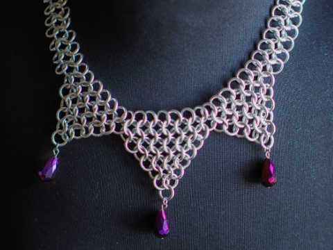 Triangle Drape Chainmaille Necklace