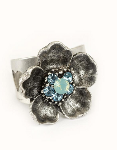 """In Bloom"" Flower Ring"