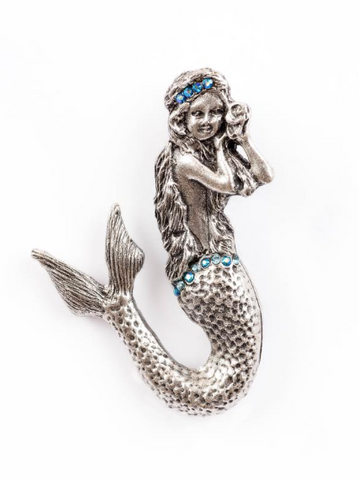 Blue Mermaid Pin