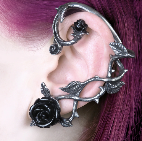 Black Rose Earwrap