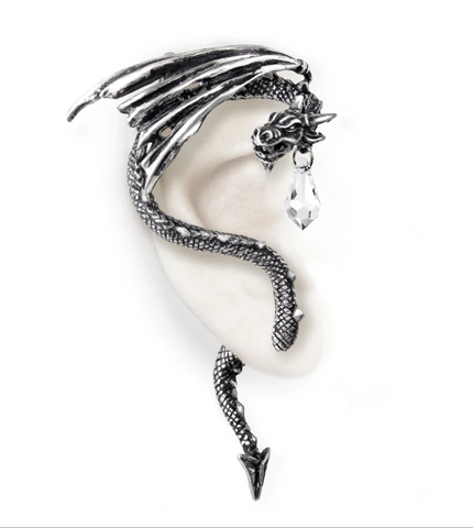 Crystal Dragon Ear Wrap -- Right Ear