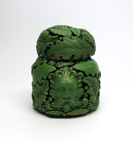 Small Green Man Jar with Lid