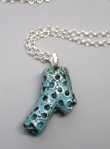 Small Turquoise Coral Pendant
