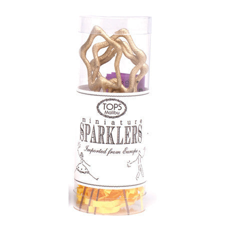 Gold Star Mini Sparklers - Set of 4