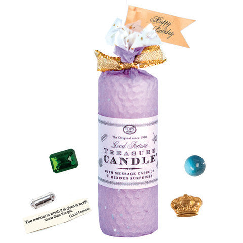 "Treasure Candle - 4"" - All Occasion in Lavender"