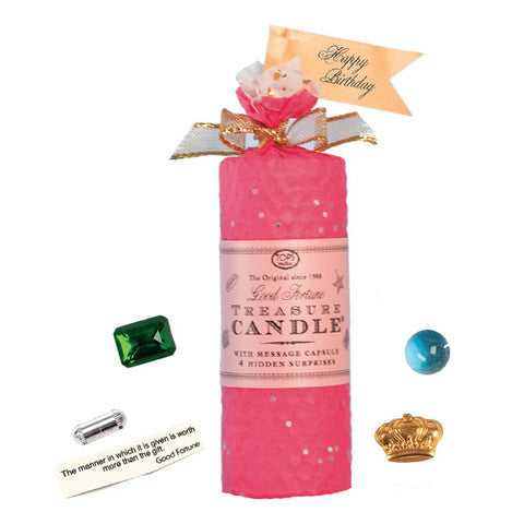 "Treasure Candle - 4"" All Occasion in Magenta!"