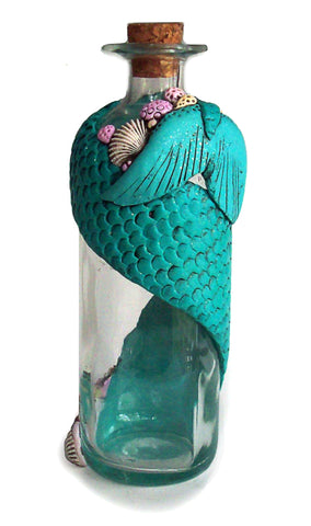 Tall Mermaid's Tail Bottle