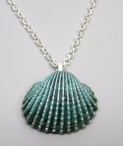 Turquoise Clam Shell Pendant