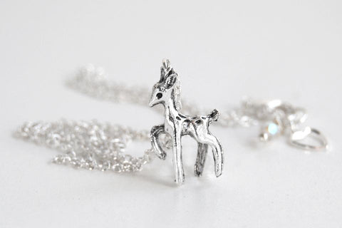 Always Silver Deer Necklace