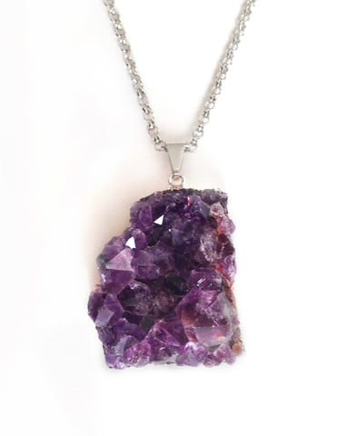 Raw amethyst pendant mozeypictures Images