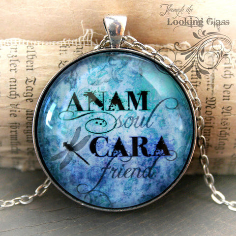 Anam Cara/Soul Friend Looking Glass Pendant