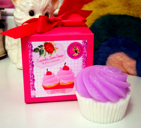 Lavender Cupcake Love Soap