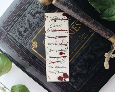 Arya's List Game of Thrones Bookmark