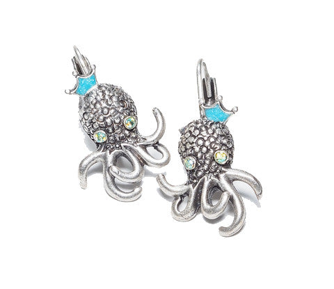 Baby Octopus Earrings