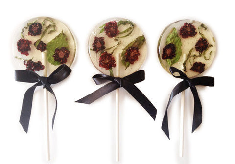 Organic Blackberry And Basil Lollipop (One)