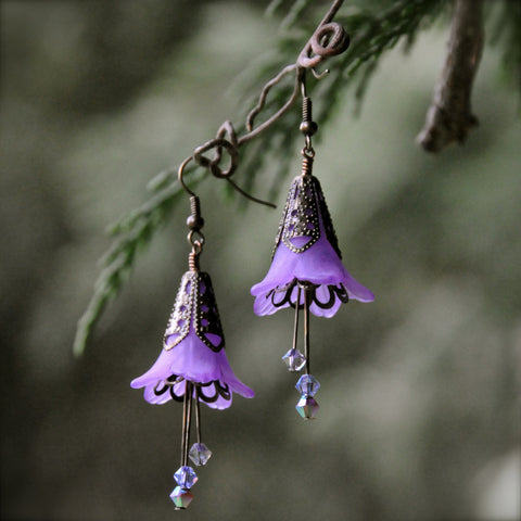 Belladonna di Notte Flower Earrings