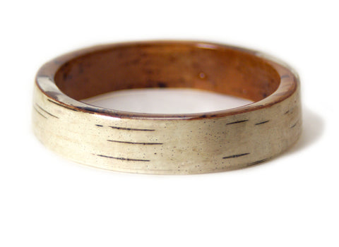 Birch Bark Resin Bracelet