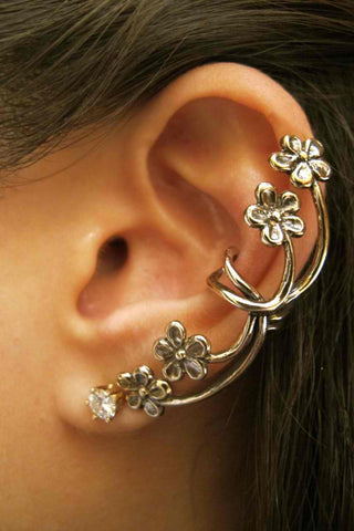 Ear Cuff - Forget Me Not - Bronze