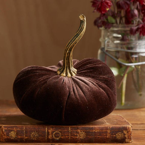 Brown Velvet Pumpkin