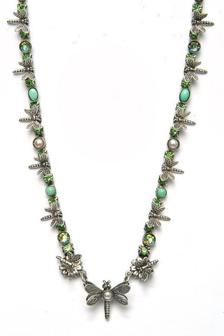 Green Dragonfly Necklace