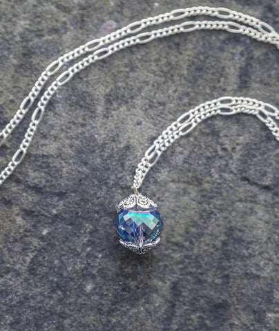 Petite Crystal Ball Necklace