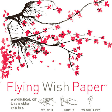 Cherry Blossoms Flying Wish Paper Mini Kit