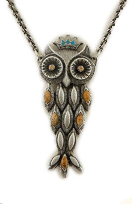 Crowned Owl Necklace