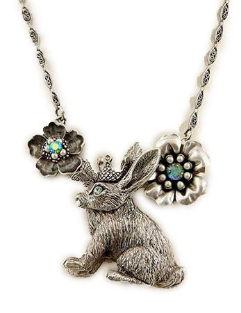 Crowned Rabbit Necklace