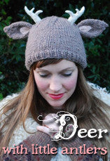 Deer with Antlers Knitting Pattern PDF