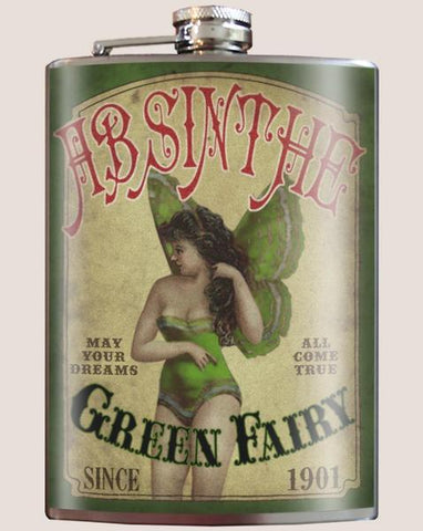 Green Fairy Absinthe Flask