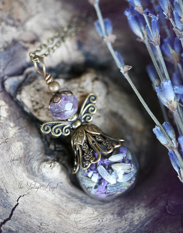 Lavender Faerie Necklace by The Vintage Angel